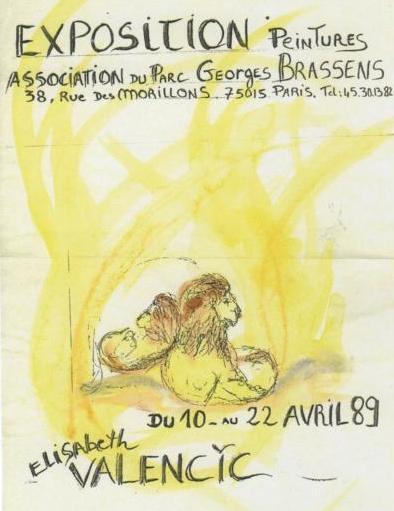 Affiche d'une exposition de peintures par Elisabeth VALENCIC