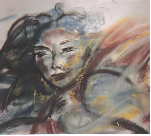 Peinture Portrait de Laurence M. par l'artiste Elisabeth VALENCIC